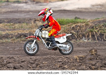 Young Motocross Racer  - stock photo