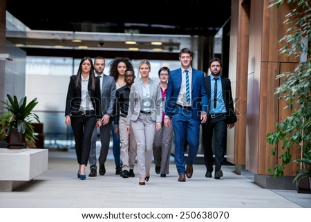 young multi ethnic business people group  - stock photo