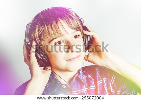 young musician - stock photo