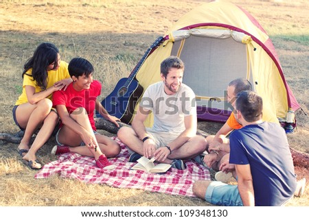 Young People Camping