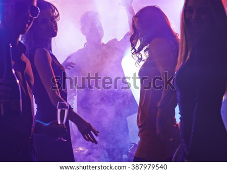 Young people enjoying the party - stock photo