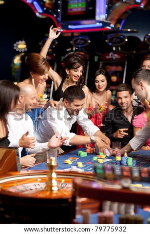 young people exited over playing roulette