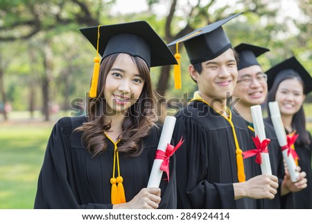 Young people graduation