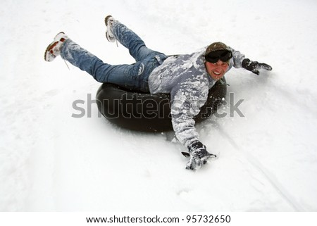 young people have fun in the winter