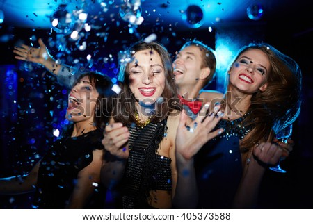 Young people having fun at party