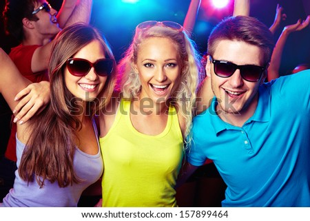 Young people having fun dancing at party - stock photo