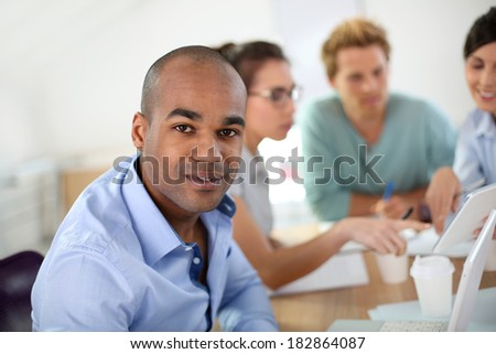 Young people in business meeting