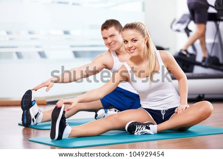 Young people involved in sports - stock photo