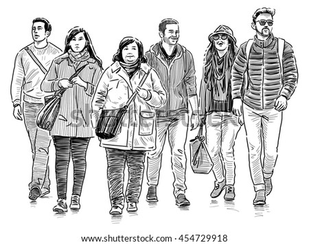 young people on a walk
