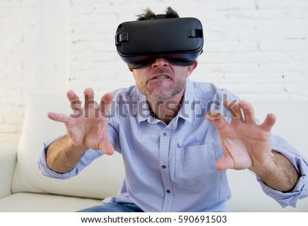 Man on woman cyber sex
