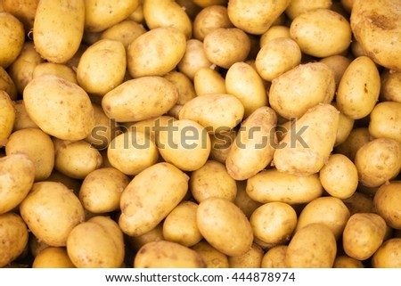 Young potatoes in a pile, texture