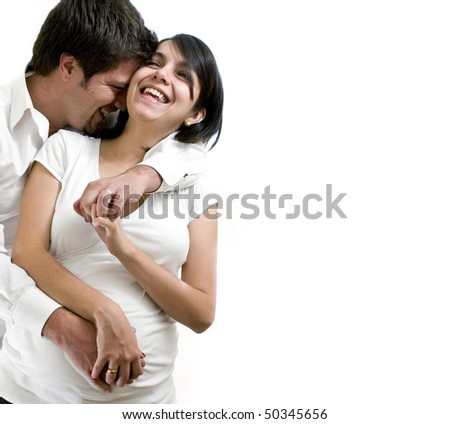 young pregnant couple - stock photo