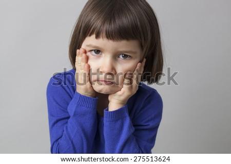 young preschool kid enjoying humor with cheerfulness - stock photo