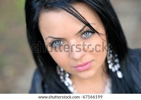 young pretty woman portrait - stock photo