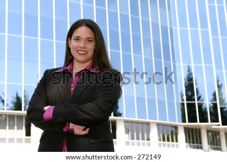 young professional outdoors. - stock photo