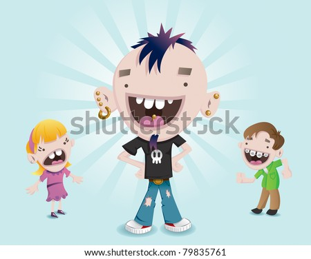 Young Punk - stock photo