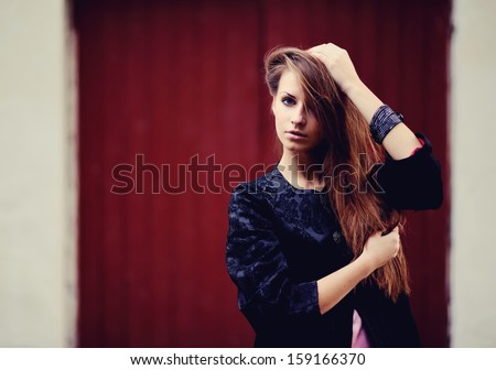 Young red hair woman portrait