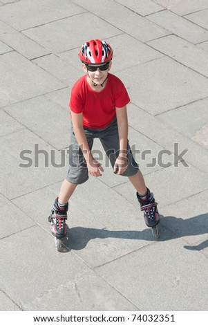 Young Roller Blader