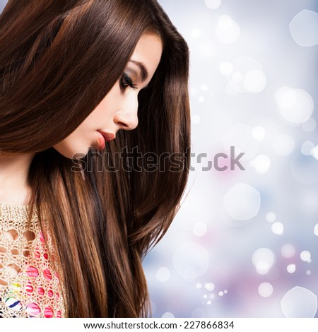 young sad girl  - stock photo