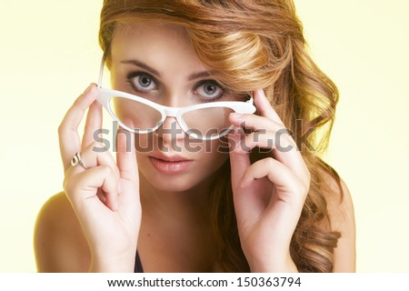 Young sad woman - stock photo