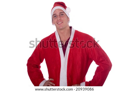 Young santa claus - stock photo