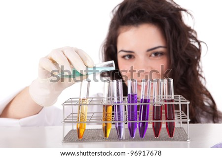 Young Scientist at work - stock photo