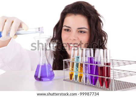 Young scientist working at laboratory