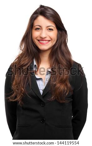 Young secretary portrait - stock photo