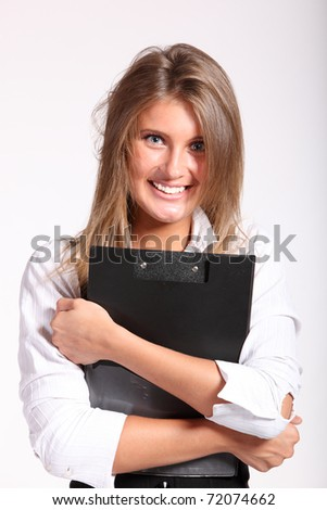 Young sexy business woman
