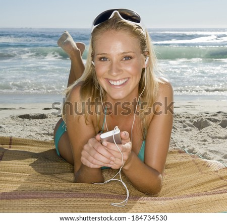 Young sexy in swimsuit - stock photo