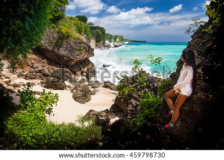 Holidays Loving Couple On Island Bali Stock Photo - Where is bali located