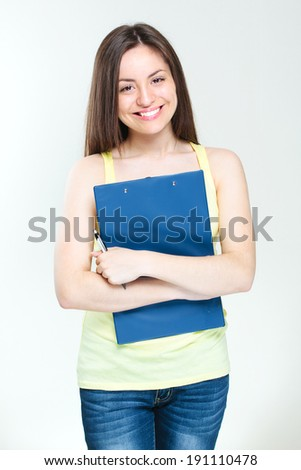 young smiling happy student girl.