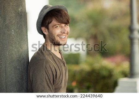 Young smiling man - stock photo