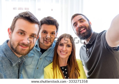 Young smiling people - stock photo