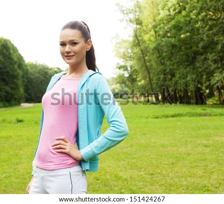 Young sporty woman outdoor.