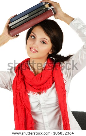 Young student girl - stock photo