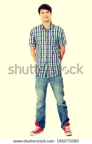 Young student man - stock photo