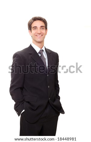 Young successful businessman in suit