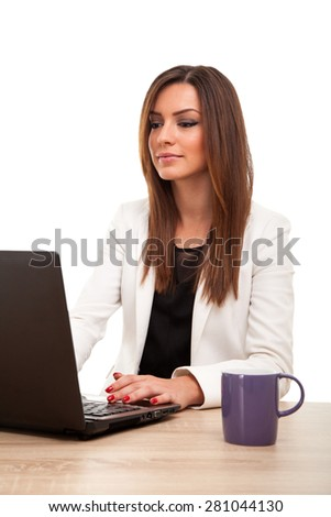 Young successful businesswoman - stock photo