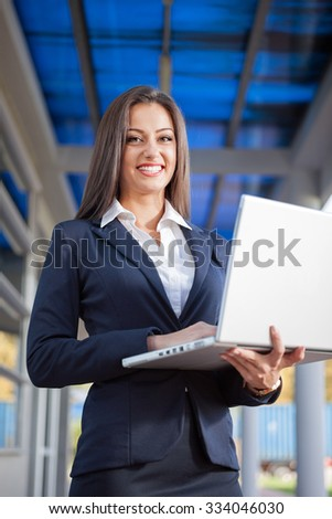 young successful businesswoman on a break - stock photo