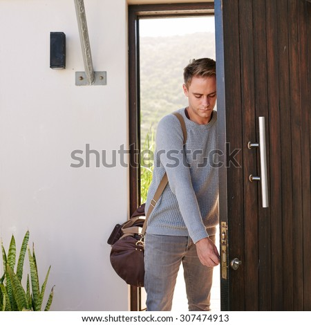 Young Successful Entrepreneur Style Walking Through Stock Photo