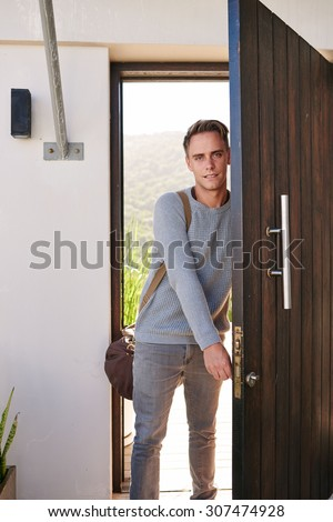 Man Closing Door Stock Images Royalty Free Images