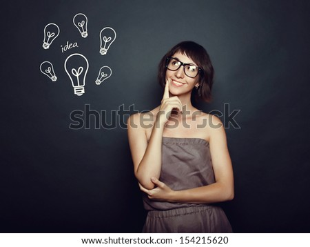 young successful woman with an idea