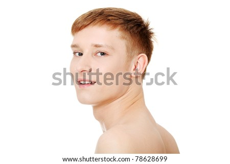 Young summer man portrait - stock photo