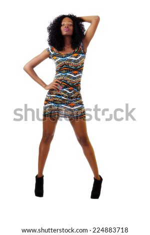 Young Teen African American Woman Dress Standing