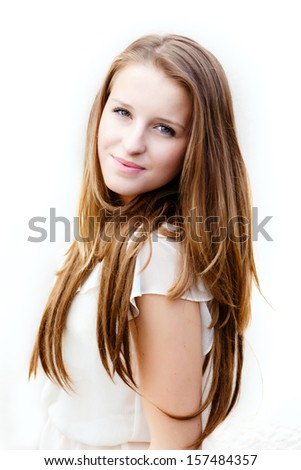 Young teenage girl portrait
