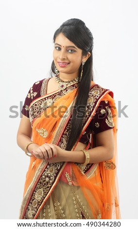 Young traditional Indian woman with arms crossed