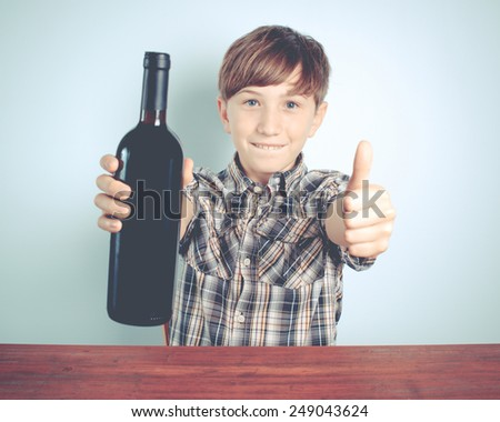 young wine supporter - stock photo