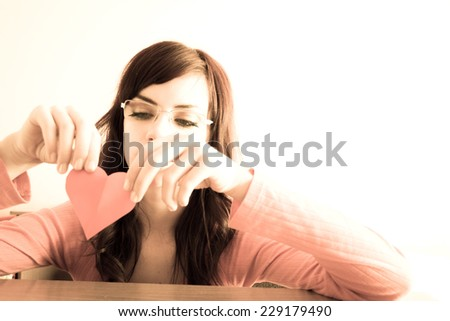 Young woman after hard break-up - stock photo