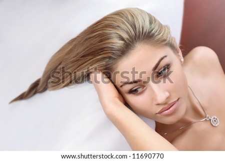 young woman and her beautiful hairstyle